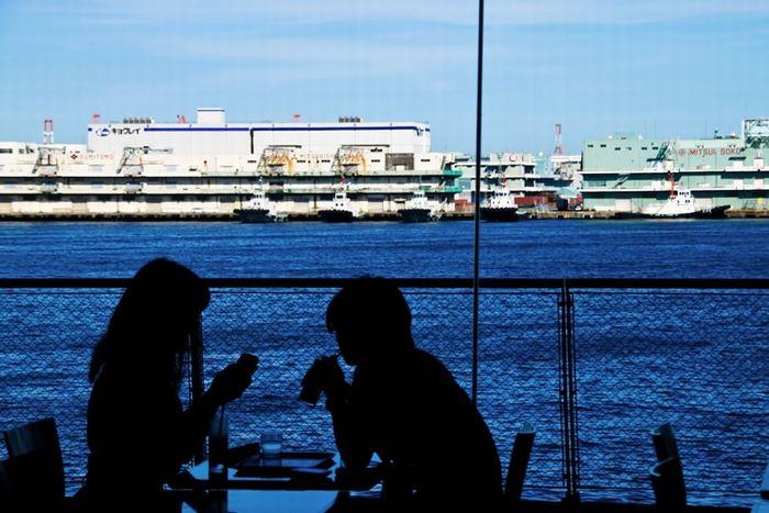 海を見ながらのデート