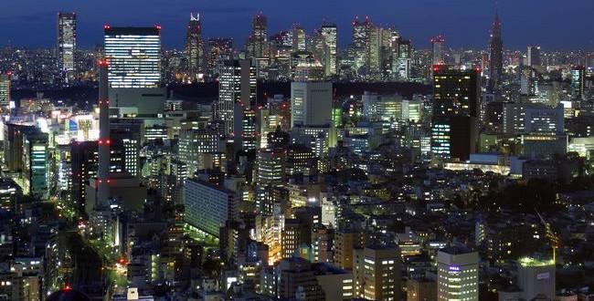 高層ビルからの夜景